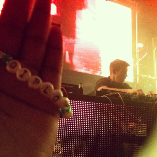 cookiecocaine:  Me && My Diplo kandi are front row Bwords !!!!! #diplo #xslasvegas #kandi #twerk #ratchet #expressyourself  (at XS Nightclub)