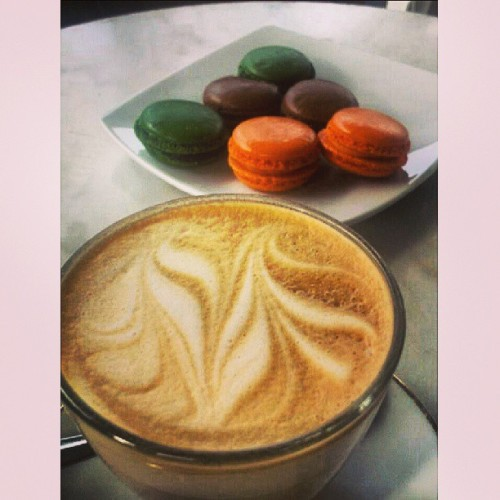 #coffee and #macarons (at French And Mor)