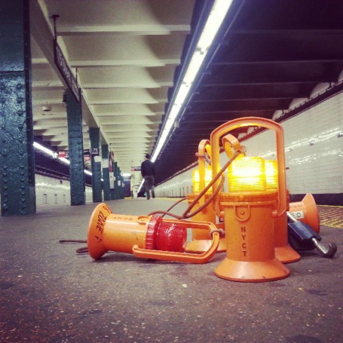 Late night MTA work #instagramuptown #nyc #washingtonheights #inwood #uptown #made_in_ny #mta