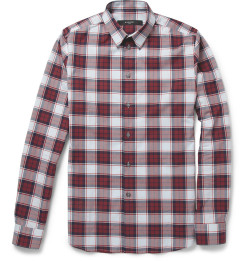 wantering:  Givenchy Slim-Fit Plaid Cotton Shirt
