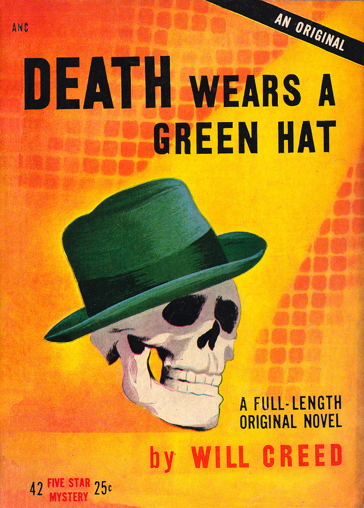 mudwerks:  Dapper skull (by PopKulture) stupid death and his green hat…   I am an Elvis Costello fan so I think death wears a big hat. Cause he's a big bloke.