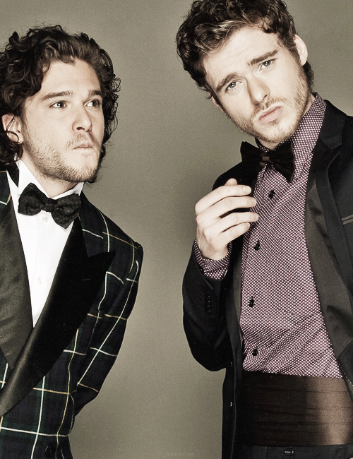 bleeding-crown:  Kit Harington and Richard Madden for Esquire.