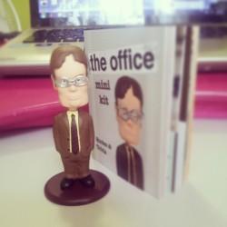 Mah mini #Dwight #bobblehead ! #TheOffice #itsthesizeofmyfinger!