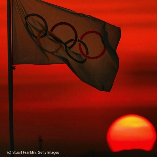 olympics:  Happy Monday! An Olympics Sunset in Athens, Greece 2004