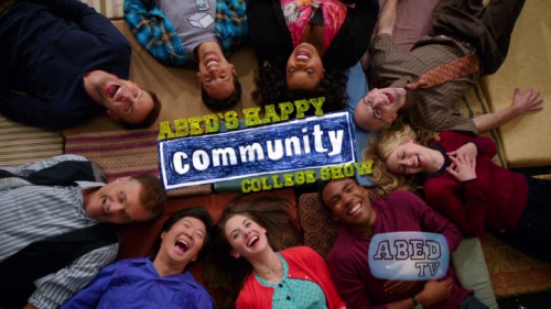 "Community 4x01: ""History 101"" Troy and Abed enter with a modified catchphrase, and they are greeted by a laugh track. The laugh track continues to regurgitate over every other word that is said as the rest of the group enters, wearing the same hipster glasses as Troy. Jeff is the only one not wearing the glasses besides Abed. Pierce enters, played by Fred Willard instead of Chevy Chase; he is wearing the same glasses as everyone else, not because they are cool, but because they are his old backup pair. We hear Britta's voice over the incessant laugh track and a Big Bang Theory-like transition pulls us out of Abed's head and into a laugh track free environment. This episode is the first episode without Dan Harmon. The show had quite a public dysfunction last season, and this opening voices what many fans may have feared: that the show may be infused with popular sitcom trappings and become indistinguishable from the wasteland of broadcast television sitcoms, and Chevy would be replaced or removed for being part of the public dysfunction. The audience will hopefully breathe a sigh of relief when it is revealed that the scene was all manufactured in Abed's head and everyone is pulled back into the reality that has come to be expected of the show. This episode uses the film Inception as its framework. In that film, people travel through multilayered dreams within dreams to plant the seed of an idea into the mark's mind, so that when the dreams are all ended, the idea germinates and the mark feels that they have conceived of the idea on their own without any outside influence. A popular reading of the film is that each person is a personification of a particular role in the filmmaking process, and that the film itself is a commentary on how films work on the viewer. The ending is somewhat ambiguous so that the viewer may read into it what they will, and feel like they have come up with the meaning themselves from whichever clues they decide to use from the rest of the film. This episode of Community casts its characters in the roles of the Television production process. The idea that the viewer is being incepted with is that the show is still the show they love even though Harmon is gone and it may grow outside of the school. The title of this episode is History 101, and as with previous seasons, the first episode introduces the concept the episodes will be exploring for the rest of the semester. Here we will study the viewer's personal history with the show and adherence to traditions.  In the real world, we learn that Britta (still wearing the hipster glasses from the laugh track world) has used her amateur psychology to instruct Abed that whenever he feels stressed, he should retreat into a happy place that he has constructed inside his head. She gave him the instruction to start with a babbling brook, and Abed says ""I started out with a babbling brook, but then I layered in elements from our world. I'm sure fans of the babbling brook will complain, but I felt it was limiting."" The babbling brook is the typical laugh-track-a-second sitcom, into which Abed layered in elements from what he calls the real world. The real world is the show we are used to and the elements layered in are the characters therein. Britta asks Abed if he is ready for the ""last first day of school"" we see that this is the stress trigger that prompts Abed to retreat into his fantasy world. This is our stress trigger as well: the fear that the show will be canceled now that Harmon is gone and it may be homogenizing into bland background noise. Abed retreats into his head and we see the opening credits with new lyrics sung by Abed. The new lyrics open with ""this is my show, it's about me, and all my friends"", describing the personal connection a devoted viewer has with the characters of any show with which they connect. Fred Willard is listed as Pierce in these credits, and we see Chang here even though he does not appear anywhere else in the laugh track world.  In the real world, we find the study group reuniting (now including Chevy as Pierce), excited to begin a class called The History of Ice Cream. Annie says that she is going to do senioritis which she defines as ""hangin' out, blowin' off classes, pullin' pranks, not sayin' my G's."" Shirley lights up at this idea, and says that she will pull some pranks with Annie. Annie nonchalantly says she would rather pull them with Jeff, but will do so with whomever. Troy confirms his date with Abed to make wishes in the fountain, as is their first of the year tradition. Pierce tells them that ""wishes aren't real. If you want something bad, you have to work for it or use a spell."" The group sees a long line outside the ice cream class, as Jeff sticks his head outside the classroom to beckon them forward. We see world bleed as Jeff is wearing the hipster glasses from the laugh track world. He notices Britta is wearing the glasses too, and he takes his off, shoving them at Neil. We learn that Jeff showed up to the ice cream class early to save the rest of the group seats. Britta and Annie comment on Jeff's behavior, calling him ""a whole new Jeff Winger."" As the group sits down, Leonard complains that he has been ""pissing in jars for an hour trying to keep this seat"" while the group got in right away because of Jeff's antics. During commentaries for season 1, we learned that Leonard's original purpose was to act as an embodiment for the heard but not seen studio audience reactions in classic sitcoms. Leonard here is the audience, angry that a new production team waltzes into the show to pick up the history with a simplified view towards pleasing everyone, and turning the show into ice cream, while he has put in so much work with the last three seasons of the show. (The pissing in jars is a reference to DiCaprio's character in the Aviator which will also come up later). The group yells at Leonard to stifle his cries and the dean comes in to quiet everyone down. The dean announces that the admission slips to the ice cream class have been counterfeited and the student pool has been flooded, negating the old way of accepting people into the ice cream class.  The dean leads everyone to the gym where he has set up an obstacle course which he calls The Hunger Deans. He expects the students to perform antics and jump through hoops in the post apocalyptic wasteland of sitcom television so that they may make it into the easy history class. Upon seeing the obstacle course, Shirley says ""Oh, Lord, no."" and the rest of the group shares her sentiment as they reject the idea of competing in favor of taking history class next semester. Jeff reveals that ice cream is the only history class offered this semester and that it is the last class he needs to graduate. Jeff had hidden from the group that he took classes all summer and history is all he needs to graduate one semester early. The group feels betrayed that Jeff planned to leave them early, and Annie calls him selfish. Jeff is the spirit of the show here, fluctuating between old and new Jeff/old and new showrunner. Harmon is leaving early, and the restrictions placed on him by the producers (embodied by the dean) are turning him into a different Jeff, a new showrunner. The group represents different aspects of the writers, viewers, and the show itself, and they all feel betrayed and uncertain about their future after learning the truth about Jeff. Jeff says that he has been working on a speech to tie everything together and give closure to what he was planning. He offers a little bit of the speech, but not all of it. One of the show's rules has been that Jeff will deliver a speech to tell us the lesson of the episode at the end. Abed tells Troy to fulfill the wish tradition without him so that he may stay in the gym to watch Jeff. As Annie leaves, she says ""see you around, old Jeff."", and Jeff protests that he is new Jeff and will win 7 red balls to enter the ice cream class because he is ""not going to take that class unless you guys are with me."" As everyone has turned away, Jeff delivers part of his planned speech: ""we're gonna have to leave this place sometime. Like an ice cream cone melting in the sun, our time here can't last forever."" This triggers Abed's anxiety which pushes him back into the laugh track world.  Inside Abed's head, we see the group reading generic pamphlets labeled JOBS as Jeff tells Abed they are making plans for the future because they ""can't stay at Greendale forever."" Now we have world bleed in the other direction, as Jeff's words from the gym have corrupted Abed's happy place. The dean comes in dressed as Leonardo DiCaprio from The Aviator and announces: ""just as his character lost his mind, so have I lost your student records."" Shirley comments on how Amelia Earhart would have been a more straightforward demonstration of the dean's news. The dean mentions DiCaprio, however, to ground us further in the referencing of Inception. The dean says that the group will have to repeat the last 3 years and Troy says dejectedly ""we're gonna be here forever."" This idea echoes in Abed's head, making him happy, as we are pulled back to the real world.  In the gym, the dean starts the competition and Jeff tells Leonard to give up his pursuit of the first red ball. He assaults Leonard and climbs over him to capture the ball. Chevy sits with an unresponsive Abed, struggling to come up with a joke about Jeff acquiring balls. Jeff brings him the first ball, and we are pushed back into Abed's head. In the laugh track world, Annie says that she would like to begin a major in forensics if she must start over. Troy mentions that you can major in antics, and Abed spouts off a lot of information about  it as if he has researched it seriously. Jeff protests the idea that they have to start over as freshmen, but a group of girls comes in and invites the study group to a freshman mixer and Jeff accepts the role of freshman to chase after the girls. This is the opposite of new Jeff who sent girls away in order to take the final history class needed in the real world. Abed smiles and shakes his head seemingly thinking ""classic Jeff"" as we are pulled into the real world.  Annie and Shirley are breaking into the dean's office to pull their senior prank. Annie keeps thinking small, and Shirley has to prod her to think bigger and actually pull off a prank. Annie gets excited about Shirley's ideas and decides to move everything around the stapler, calling it a prank on a prank and mentions that ""there are so many levels to this"" —again referencing Inception. Shirley comes up with the idea of filling the dean's car with popcorn instead. Annie misunderstands the reasoning at first, but grows to accept it. Annie begins to pretend she is the dean to figure out where his keys are. She does an impression of him and has the insight that the character wears heels, so the keys would be in a higher drawer than she first thought. Annie is the old writer, having been left by Jeff, the old show runner, she is treading water and coming up with trite ideas, but Shirley is a new writing partner who can use Annie's expertise about the characters to prod her into new directions and come up with their own show to create a new history. Jeff comes in to show Annie that he has acquired a red ball for her. Shirley asks if that is blood on Jeff's shirt, and he says that it is cool because the blood is Leonard's.  Britta goes to the fountain with Troy to make wishes using the jar of pennies. Troy says that he and Abed always make the first wish together, so they each grab a penny and throw it into the fountain. Britta wishes for a great school year, while Troy wishes for a thousand wishes. He tells Britta that she is not following the rules, because the first wish is always a thousand wishes. Britta acquiesces as Troy wishes that she have half of his remaining wishes. With her next wish, Britta wishes to end all wars, which breaks Abed's rule about wishes containing the word all because they yield guaranteed ironic consequences. Britta gets into the fountain to take the penny and the wish back, but Troy tells her that this is also against the rules of how the fountain works and that the pennies are not the wishes. They get into a fight and end up spilling the remaining pennies and breaking the jar. Troy is an old fan of the show and Britta is a new fan of the show. In Inception, a character would use a totem to test whether or not the possessor was in their own dream or someone else's. The show is our dream and our totem as the viewer, and it must conform to the rules we have defined for it or else it is not our show, but someone else's. Britta is accepting of anything at first, but Troy's insistence on following the rules to maintain the old status quo is draining all of her pleasure.  Annie and Shirley have lined the inside of the dean's car with tin foil and are filling it with popcorn which they will pop with magnifying glasses. Annie is complaining to Shirley about Jeff leaving early and what will become of everyone else. She is running future scenarios of everyone outside of school, seeing no fun in any of it. She calls the imagined future a ""sad, slow march towards death."" Shirley tries to make her see the bright side, but Annie ignores her. Harmon has said in the past that the Community of the title is not the college, but the study group and that the show could extend outside of the school easily, as long as the group is together. The viewer is also part of that Community. Annie cannot see any of this, however, she only sees that the old, comfortable formula she was writing in is disappearing.   Jeff is still competing for and winning red balls. He wins each one, bringing his total to 5. The sixth competition is revealed to be a tango contest, which the dean says ""requires complete emotional commitment."" Jeff surprises everyone by saying he chooses the dean as his partner. The dean gasps and whispers ""the fountain works."" They begin to dance as Chevy still struggles for a joke about balls and we are sucked inside Abed's head. The freshman mixer from the previous laugh track scene has turned into a food fight. Abed looks happy amidst the chaos, but Annie comes in and says that after only one forensics class she has found a way to retrieve the missing student records. She holds up a giant red ball safe and says that all their student records are backed up inside.  The dean made an undisclosed wish in the fountain, but we know that it was answered when he requested complete emotional commitment from the dancers and Jeff chose the dean to be his partner. Jeff accuses the dean of not wanting him to graduate, and the dean says ""I want success for all Greendale students."" The wish seems to have the ironic consequences involving ""all"" which Troy warned about earlier, because Jeff has identified with the dean enough to know that he is the only one who could have counterfeited the admission slips for the ice cream class. The dean finally admits that he did erase the second history class, and he had hoped Jeff would walk away from the challenges like the rest of the group. If the wish of the producers is that the show will find success with all Greendale viewers so that it may make money, the consequence of this happening is that the viewer will begin to become emotionally invested in the characters and will recognize when the showrunner's voice behind them changes and that old history between character and viewer is negated. Jeff delivers the sixth ball to Abed and Pierce, and we are pulled into Abed's head again.  Annie is getting close to cracking the red ball safe, but Abed grabs it from her and holds it close, saying that he does not want her to open it, but that he wishes to stay in the laugh track world forever. Britta coaxes the safe from him, handing it back to Annie as she tells him about going to his happy place. We are now going another layer deeper. In the film Inception, the mark would construct a safe where the idea they most wanted to guard was kept, and the team of extractors would have to crack the safe to find the information they needed. For Fischer, they planted the notion of the safe and then planted the idea with which they wanted to incept him inside the safe. Fischer then journeyed with the team to open the safe, believing what was inside was true. Here, the idea of the red balls being what will release the group from the confines of the school has been planted in Abed's mind, and he has turned it into a safe which houses the realization about the group which he does not want to face. His subconscious is breaking that idea outward though, thanks to the rules of his totem. The idea of the importance of the red balls and the red safe has also been implanted in the viewer's mind, and whatever comes out of the safe will be considered more important. However, the safe has not been cracked yet, so Abed retreats further away from it before it can be opened.  In the third world, we see the group as a parody of the Muppet Babies cartoon series. The idea the viewer is being incepted with first was that though the show may be different, at least it has the characters you know and love and not some typical sitcom laugh track fodder. This new idea is that it could be even worse than laugh track fodder though and be an inane cartoon abstraction of all the beloved characters from the original show. In the real world, Pierce finally finds his joke about the balls, but it is weak and anti-climactic. Britta reveals to the rest of the group that she told Abed to go to his happy place in his mind, and the group deliberates about what to do as Jeff pulls himself away to win the last red ball. Troy has everyone else join hands, as he tries to bring them into Abed's head. Troy says that it is not working though, and no progress is made into waking Abed up from his fantasies. In Inception, a person outside of the dream would deliver what was called ""the kick"" to the dreamer, as a signal that it was time for them to wake up. This kick could cause the world they were in to crumble, and as seen in the final action sequence, a sequence of kicks can pull the dreamer from one dream to another all the way up until they are back in the real world.  In the cartoon world, baby Jeff announces that he has something to say and the rest of the group cheers ""Yay, like always!"" As mentioned before, one of the rules of the show is that Jeff delivers a wrap up speech at the end, to tell us the lesson we were supposed to have learned during the episode. This speech serves as Abed's kick, and the opening of his safe. As cartoon Jeff unlocks the realization Abed had been storing in the safe, Abed is brought out of the cartoon world, back to the laugh track world, where Jeff continues the speech. Jeff's speech elaborates on the idea that the Community of the title is not the type of college the group is attending, but the group itself and our relationship with the group. Throughout our experiences in the laugh track world, fake show banners have been appearing in the lower third, advertising spin off series featuring the characters from the group in various roles. These were all created by Abed as viable alternatives to experiencing the group. They are a litmus test for the viewer as well: were they funny? would you have liked to see one of those shows? if so, was it because it still had the characters you know and love, not just the actors?  In the real world, Abed tells Jeff that he delivered a killer speech. Jeff dismisses the praise, saying that he ""literally just walked up"", and Abed says ""I know, I made the speech for you. It hit all the right notes."" Abed then delivers the real wrap up speech. He states that he was afraid of letting go of the status quo of the show in the school because he was so afraid of the future, but then he realized ""all of this was once the future, and it was completely different from what I'd known before… but in the end —or in the now, I guess— it turned out great."" Jeff tries to deliver his speech that he mentioned earlier about ice cream, but Abed cuts him off. In the end of Inception, Cobb spins the top which many see as his totem. He watches it for a second to see if it conforms to his rules or not, but whether or not it falls (or even if it is or is not his totem) is an unimportant question, because ultimately he ignores it and walks away, accepting the world he is currently in. Abed has rejected one of the rules of the show by ignoring Jeff's wrap up and has accepted the current reality of the show. However, whether or not the viewer can ignore the changes and will accept this new reality is unknown. Leonard absconds with all of the balls while the group was listening to Abed, so they have all lost their chance to be in the ice cream class. Annie talks about what she will take instead of history, suggesting advanced claims denial, but Abed suggests that she take forensics, as she had wanted to in the laugh track world. If Annie is an old writer, Abed is saying that she should delve into the past and see how it works and how its current state can be deciphered, offering her an alternative road to history. Abed is also building the current world to make people happier. Just as in Inception, there is no real world aside from that of the viewer who is watching the show. Many viewers will decry a piece of entertainment in which everything turns out to be a dream, because ""what is the point?"", but none of this scripted fiction is real anyway, so the posited question can be applied to any episode of the show past, present, or future.  The dean greets Jeff outside of his condo, and reveals that he has reinstated the original history class for the group to take. This history class will require more work from the group, because, as Abed implied, the group's present will one day be a new history for the viewer. The producer dean has given the show a season in which to make their own new history. The dean reveals that he is also now living next door to Jeff.  In the final scene before the credits, we hear what sounds like rushing water, and a drenched, naked Chang approaching a postman with a note that says his name is Kevin and he has Changnesia. The sound of waves and the wet presentation of Chang are both indicators found in Inception that someone has washed up on the shore of limbo, a shared space of raw subconscious which anyone can change and build within. It is the lowest level of the dream rungs. On one level, this is implying what was stated before: that there was never a real world. On another level, this is stating that in its relationship to the viewer, the show is still in a state of limbo. Will the changes the new people have made to the world everyone shares be accepted by the viewer or rejected? Will the show retain and/or grow its viewer base?  The final tag returns us to the laugh track world, and shows Troy and Abed dressed in drag to obtain entrance to the antics class. After they are accepted, Britta is refused entrance by the dean, and Shirley sticks her head out to say the same thing she said earlier in the real world, now with the inflection of a catch phrase ""Oh lord, no."" This is another clue that the real world was never a real world.  Season 1 Episode 1 Analysis Episode 2 Analysis Episode 3 Analysis Episode 4 Analysis Episode 5 Analysis Episode 6 Analysis Episode 7 Analysis"