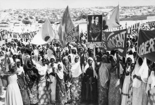 beautone:  Somali women protesting in solidarity with Angela Davis [1972] (stolen from twitter)