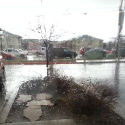 It's pouring #rain haha #suddenweather #Utah #work #cloudy (at Bushi Kai Martial Arts)