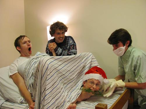 "knusprig-titten-hitler:  ""My friend and his roommates took their Christmas card photo today…""  Jeff and Dan need to get home right the fuck now."