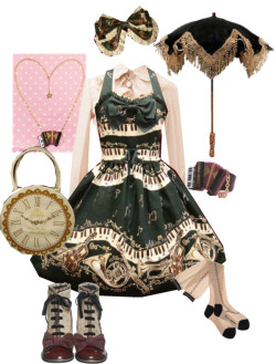 lapincouture:  Dance of the Black Cats by crycamellia featuring bodyline