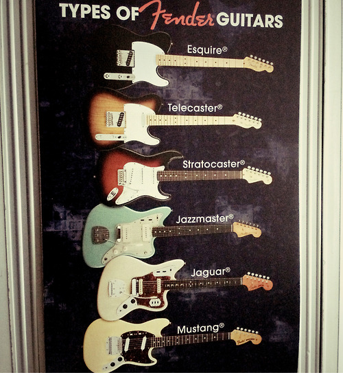 nwi-talent:  Types of Fender Guitars   NWI-Talent.com