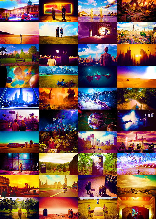 doctor who → scenery throughout the seasons