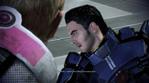"EDI JUST SHOT KAIDAN (""i knew that machine could not be trusted"" said javik) now liara is the only member of the original normandy still alive. the conversation with her afterward was so sad ugh she went on about how helpful and nice kaidan was back in ME1 (oh, and the salarian councilor is dead and the bomb went off on tuchanka and decimated clan urdnot, who were not actually cured of the genophage)"