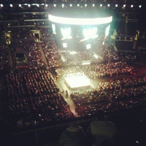 It's my vision of heaven! #WWELosAngeles (at STAPLES Center)