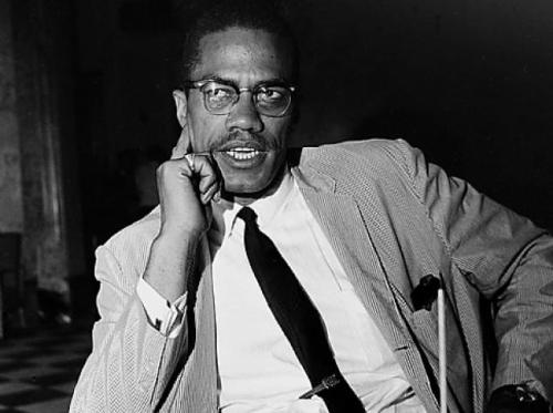"lyriciss:  leebasays:  Remembering: Malcolm X (May 19, 1925 – February 21, 1965) ""Be peaceful, be courteous, obey the law, respect everyone; but if someone puts his hand on you, send him to the cemetery.""  Malcolm X was the REALEST."