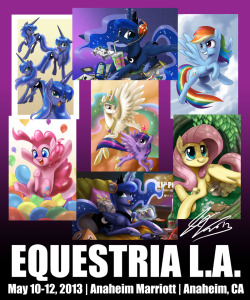 New prints for EQLA 2013! I might be going to Trot Con in Ohio and definitely going to EFNW in Washington state. Those are the other two chances you can get these. I might bring some to Gala Con in Germany.  More info about EQLA: http://equestriala.com/index.php
