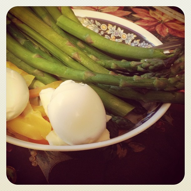 My little lunch! Love asparagus :)