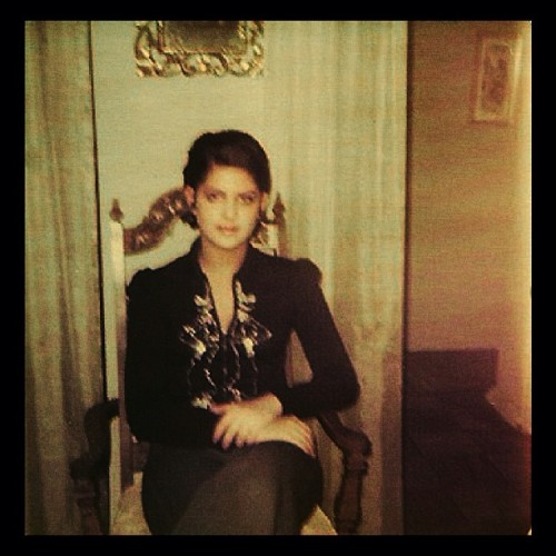 my mum, original gothic queen