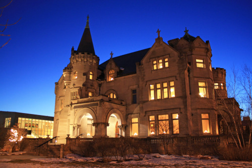 The Turnblad Mansion at twilight, 1/15/13.