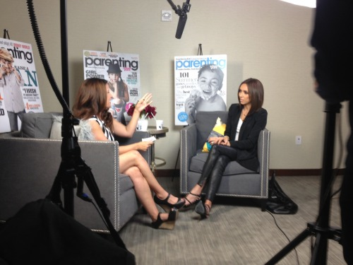 Our brand director, Ana Connery, is interviewing Giuliana Rancic today!