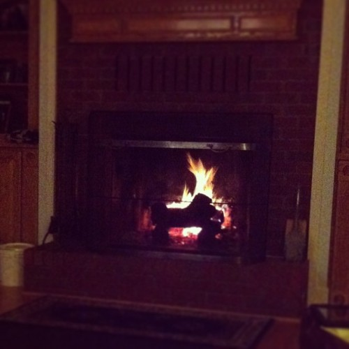Fireplace heaven!  (at The Hundred Acre Wood)