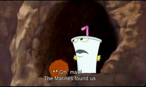 aqua teen hunger force marines shake meatwad gay