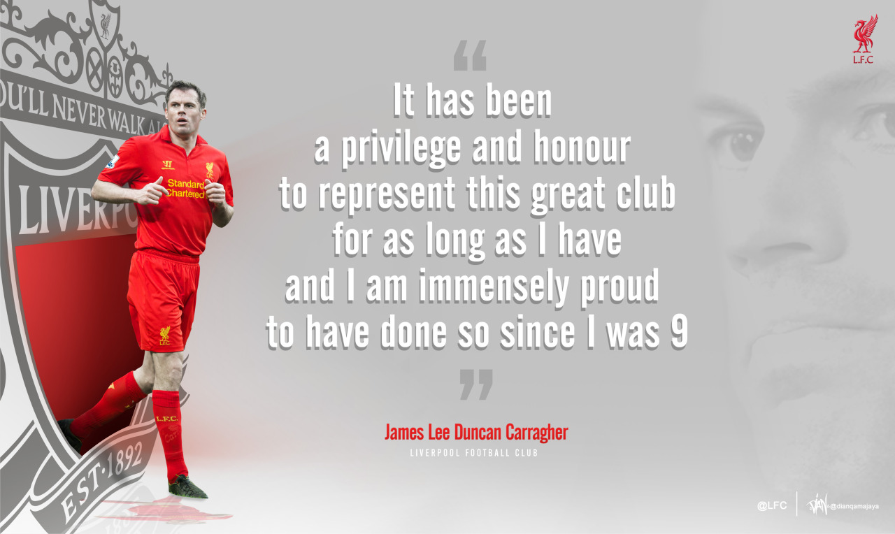 Jamie Carragher: One club man.
