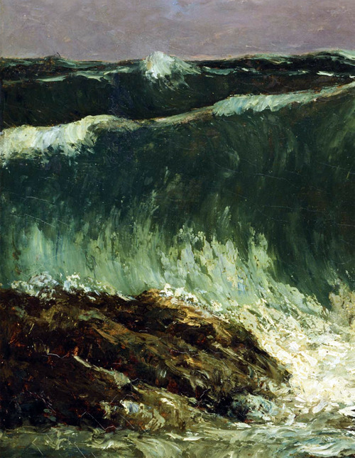 evolutionists:  Gustave Courbet. Waves (detail).