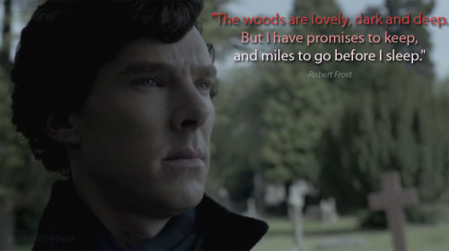 Sherlock + Poetry = THIS.   You just can't tell me that quote doesn't capture the emotion of that scene, perfectly.
