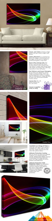 RAINBOW LIGHT SHOW http://www.simplycanvasart.co.uk/products/RAINBOW-LIGHT-SHOW-473686.aspx