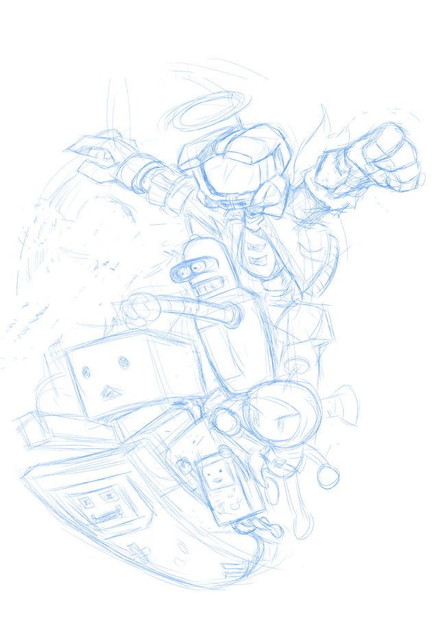 Just a WIP… Rise of the Robots… WOOT… If this was a real movie… one of them would be a human pretending to be a robot to infiltrate them…
