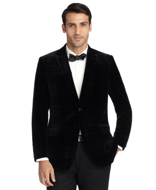 Brooks Brothers Black Watch Velvet Tuxedo Jacket Homicide.