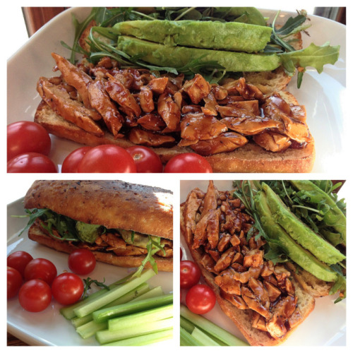 "(Click here for recipe BBQ ""Chicken"" Sandwich)"