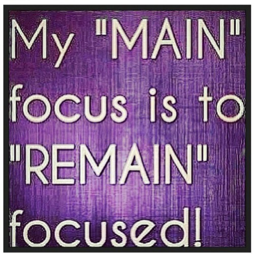 Focused! !!!