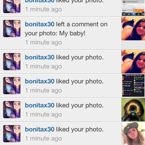 Thanks bbg for blowing up my notifications lol I love u bbg ❤❤@bonitax30