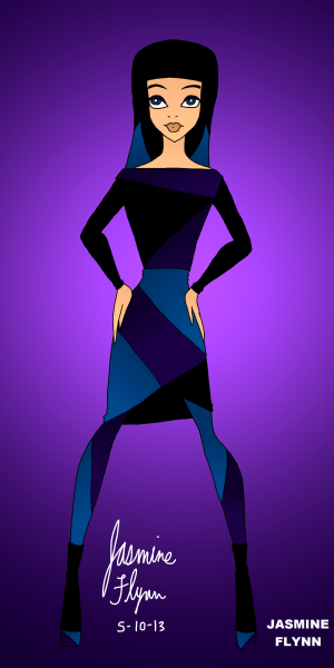 Blue and Purple Outfit. a digital drawing by me, Jasmine Flynn :)