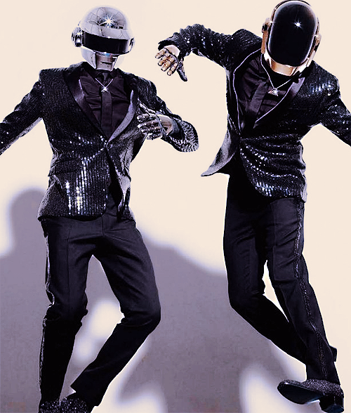 philthethrillmusic:   Dancing Robots.Daft Punk  I'm up all night to get lucky