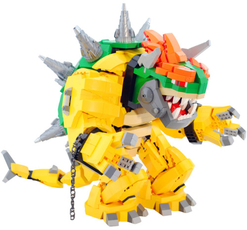 Lego geekcraft of the day: Mecha Bowser Made by Zane Houston