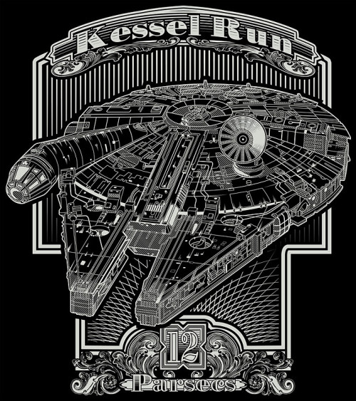 tiefighters:  Kessel Run Created by Buzatron Prints and clothes available at Redbubble.