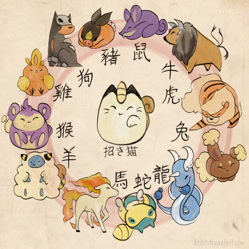 Pokemon Zodiac by `ditto9 Reason #18927490092874 that my dear friend Morgan is a badass artist. LOOK AT THIS! Go tell her how great this is! NOW! <3 Morgan I love you, keep this great work up gal!