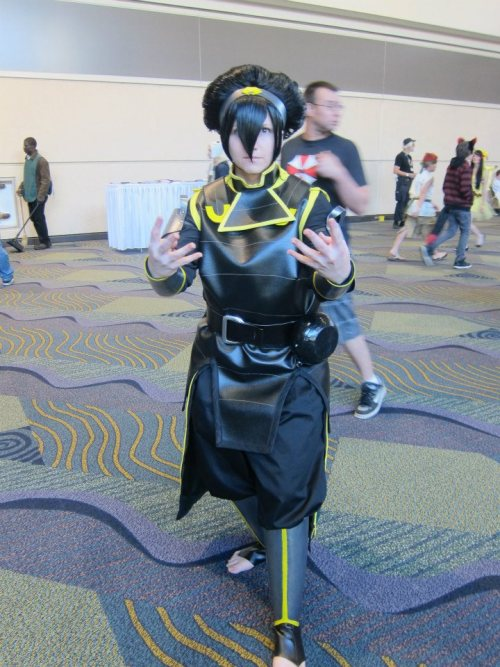 noletters:  alroko:  This is my Toph cosplay from MegaCon. I love this costume so much!  Ah, I believe I caught a photo of you? Unless there were more Metal Police Toph cosplayers around lol.   That is me and my friend! Thank you so much, this picture is amazing!