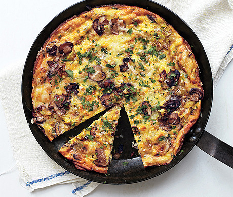 Mushroom, Leek, and Fontina Frittata (Bon Appétit, February 2013)