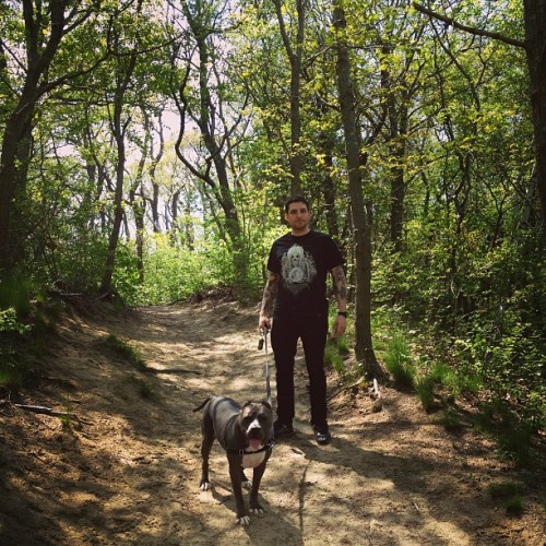 Natuuuuuure #vnm #pitbull #bandogge  (at Nissequogue River Trail)