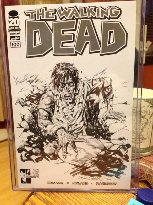 Steve Lieber's contribution to The Hero Initiative's THE WALKING DEAD 100. These will be auctioned off to benefit The Hero Initiative.