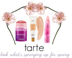 "beautybombbb:   Look what's springing up for Spring 2013 from Tarte! The theme seems to be naturally fresh beauty.  The new BB primer can be worn under foundation to prime the skin, provide skin care benefits, and boost the coverage of the foundation or it can be worn alone.  Personally, alone I feel the BB primer already provides flawless coverage.  It also leaves the skin feeling supple and fresh.  The new cheek and lip stain in Awakening is a needed addition to the previous stains.  Most of the more natural stain colors have a very peachy or pink undertone while Awakening has more of a fuchsia tone to it.  It layers smoothly over the BB primer and when patted slightly onto the cheekbones, creates a perfect everyday look.  To top off the new items Energy is an addition to the lip crayons.  It is unlike any other lip color Tarte has because it customizes itself to your lips.  Using the pH balance of your lips the product adjusts the color to give you your own perfect ""just bitten"" look. It still provides the awesome moisturizing effects of  the rest of the lip collection, making it perfect for the colder months.  The collection can be purchased at Ulta or from Tarte's website."