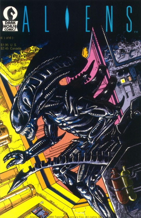 comicbookcovers:  Aliens #6, July 1989, cover by Mark Nelson