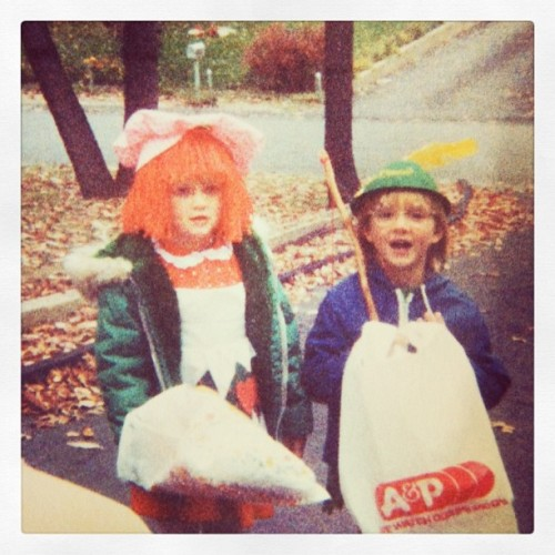 First grade Halloween, Taryn & Kara - what a pair! Strawberry Shortcake & Robin Hood! #tbt #throwbackthursdays  (at Mean Streets of Howellabama)