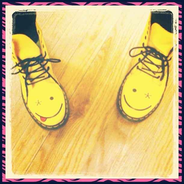 Finally my dream shoes are mine! #docs #smiley #happygirl (at Dr Martens)