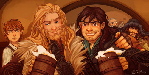 erebor-or-bust:  What Are All These Dwarves Doing In My House?! by ~ramida-r