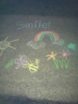 Sidewalk Finds after dark brings you a leftover installment of chalk.