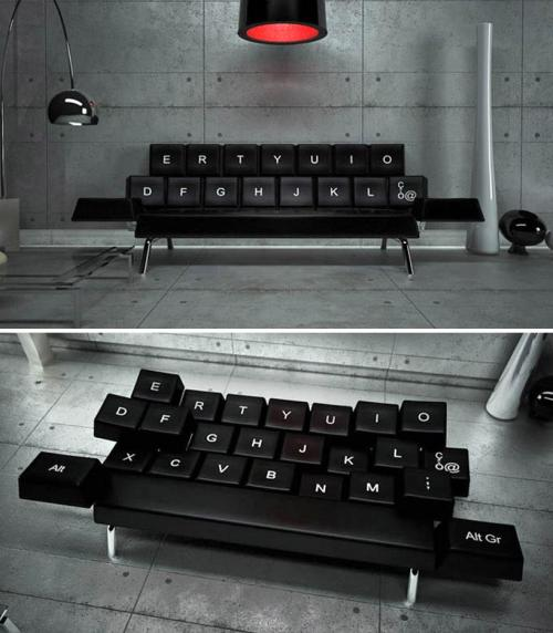 wetheurban:  #DESIGN: THE QWERTY SOFA BY ZO_LOFT Pescara, Italy's own, ZO_loft is design and architecture firm that seems to love irony in all forms of work. Be it their agency name or the development of this QWERTY sofa  bed made in the form of soft keyboard keys, like the ones your tapping on while sitting or sleeping in it. Read More
